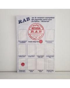 PAPEL NOTARIAL RAYADO 100H. 2139 RAB