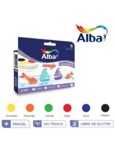ACUARELA ALBA X6 CON PINCEL