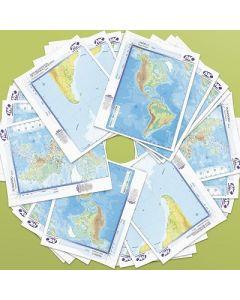 MAPA N 3 AMERICA CENTRAL FISICO POLITICO