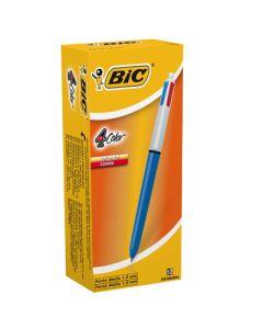 BOLIGRAFO BIC CRISTAL RETRACTIL CLASICO X4 COL. 1MM