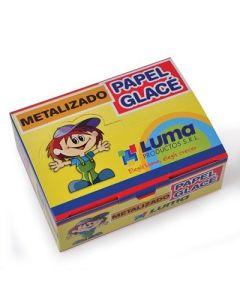 PAPEL GLACE METALIZADO X50 SOBRES LUMA