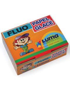 PAPEL GLACE FLUO X50 SOBRES LUMA