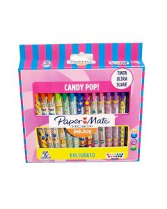 BOLIGRAFO PAPER MATE RETRACTIL INKJOY100 WRAPS CANDY X16