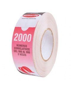 ROLLO NUMEROS X 2000 CORRELATIVOS NARANJA