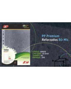 FOLIOS FW A4 POLIPROPILENO PREMIUM 80MC. X10 SP98010A
