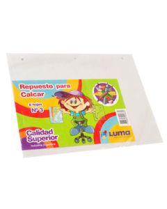 REPUESTO CALCAR Nº3 LUMA