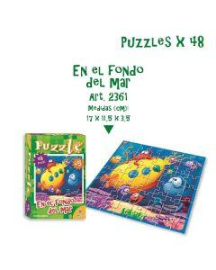 PUZZLE EN EL FONDO DEL MAR X 48 PIEZAS 2361