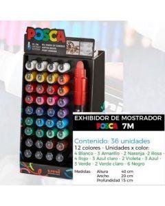 EXHIBIDOR MARCADOR POSCA PC-7M X36